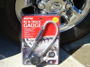 RV tire pressure gauge